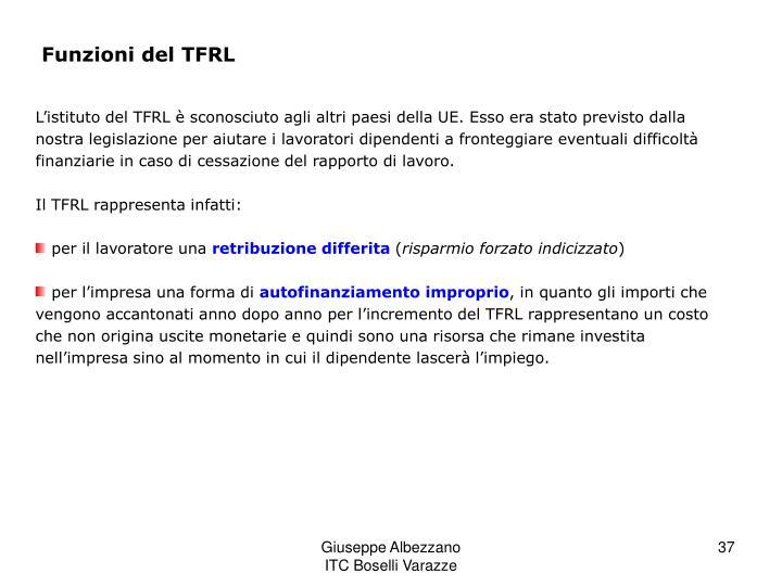 Funzioni del TFRL