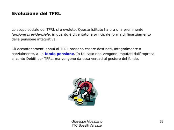 Evoluzione del TFRL