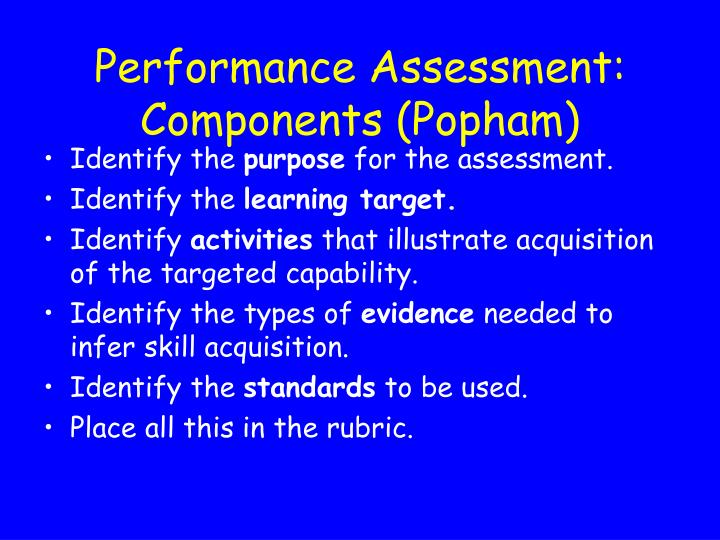 Performance Assessment: