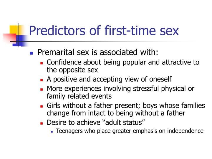 Predictors of first-time sex