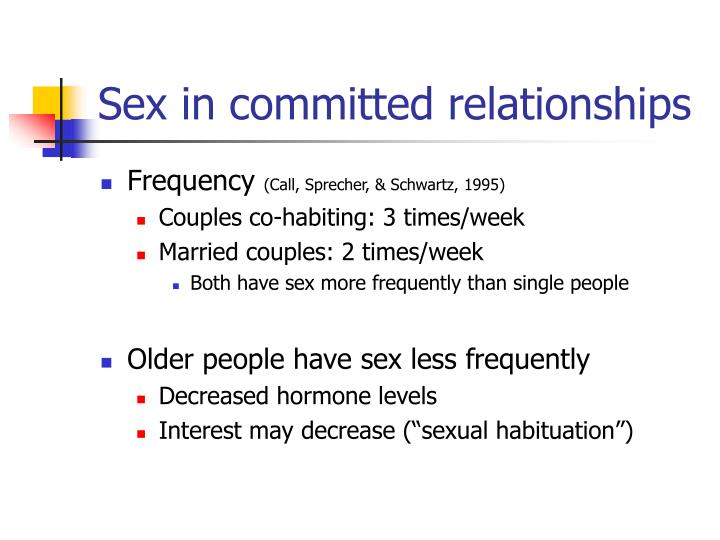 Sex in committed relationships
