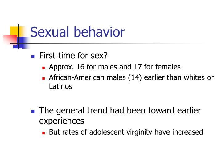 Sexual behavior