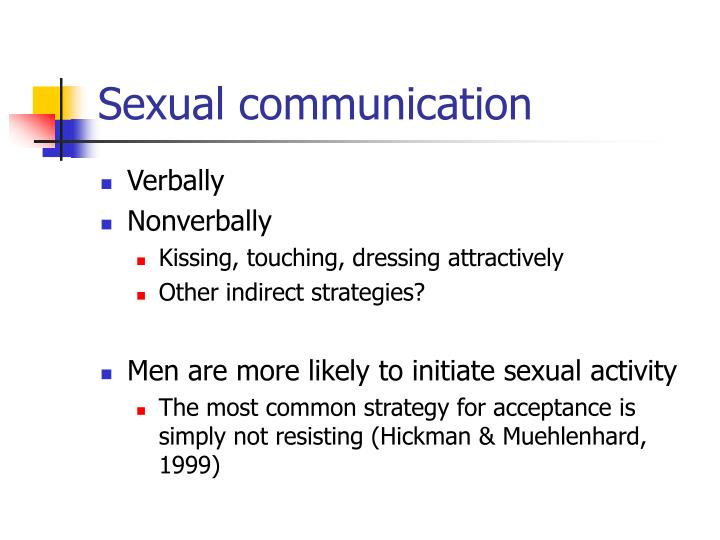 Sexual communication