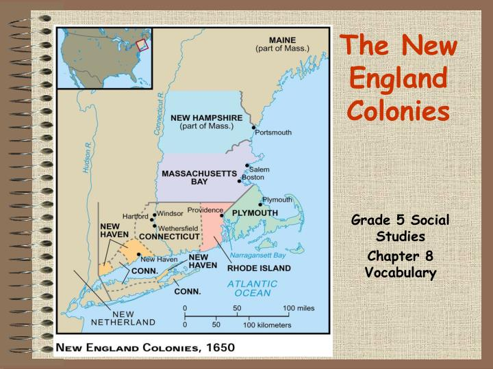 The new england colonies