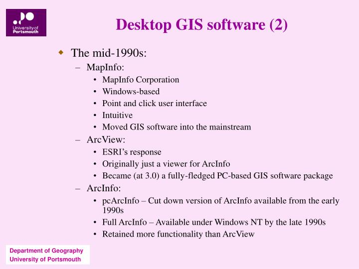 Desktop GIS software (2)