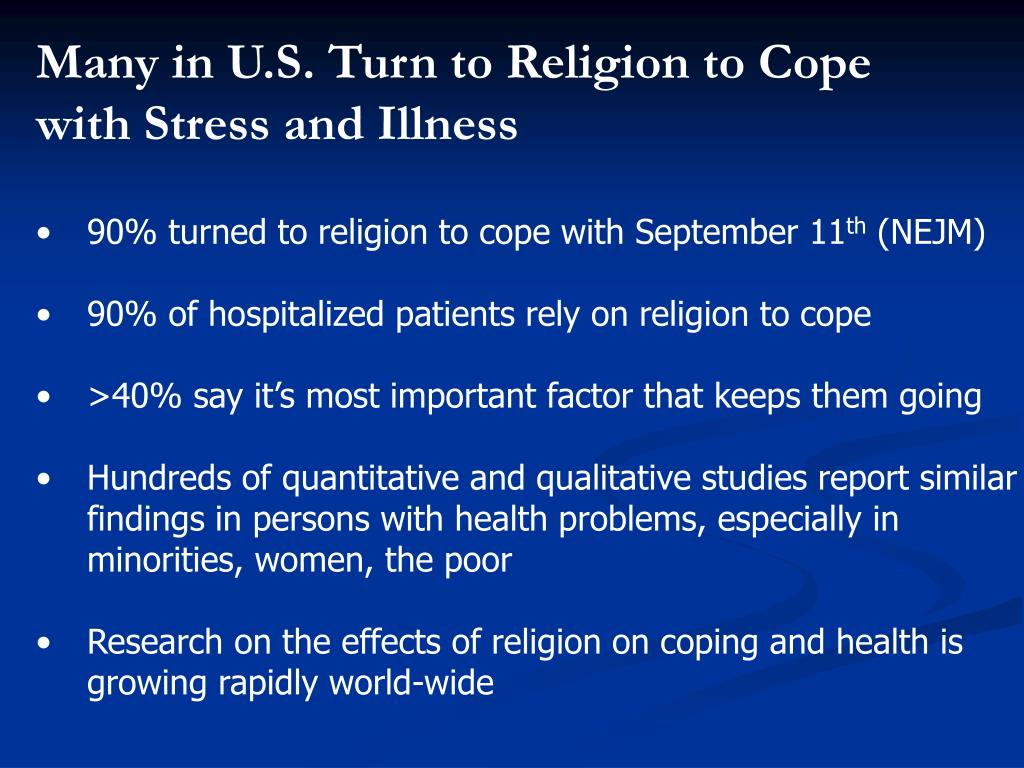 Many in U.S. Turn to Religion to Cope with Stress and Illness
