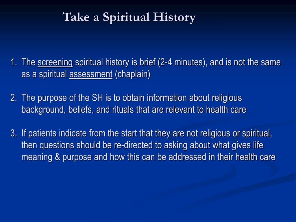 Take a Spiritual History