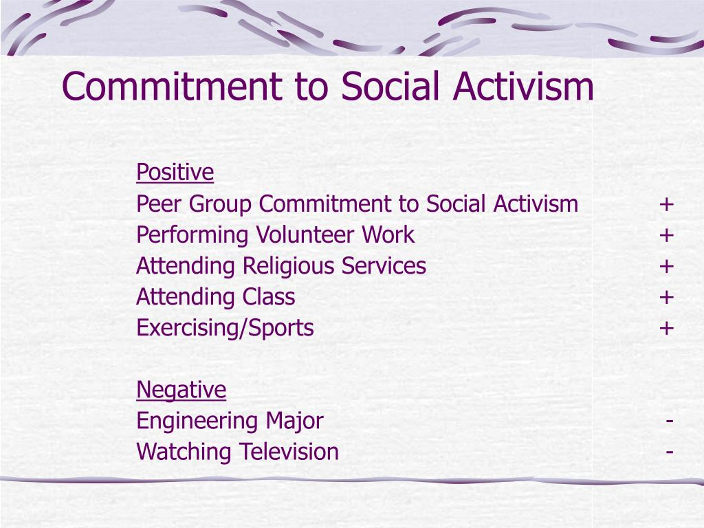 Commitment to Social Activism