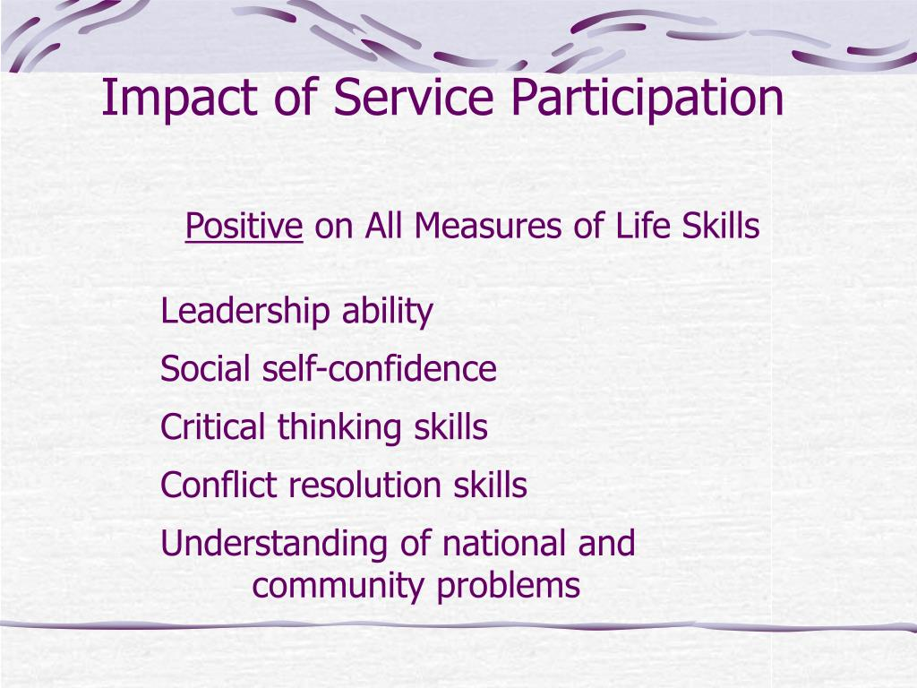 Impact of Service Participation