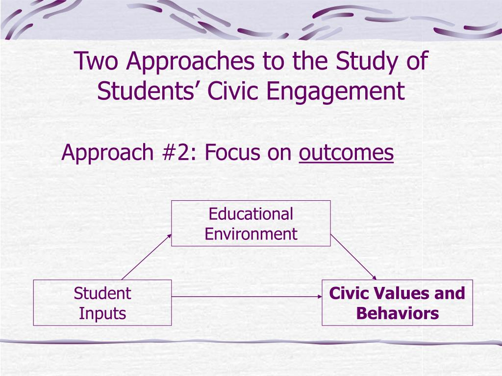 Two Approaches to the Study of Students' Civic Engagement