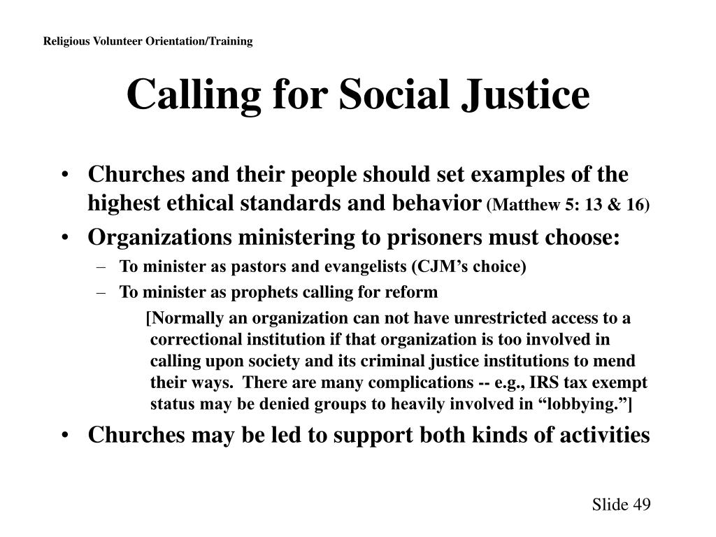 Calling for Social Justice