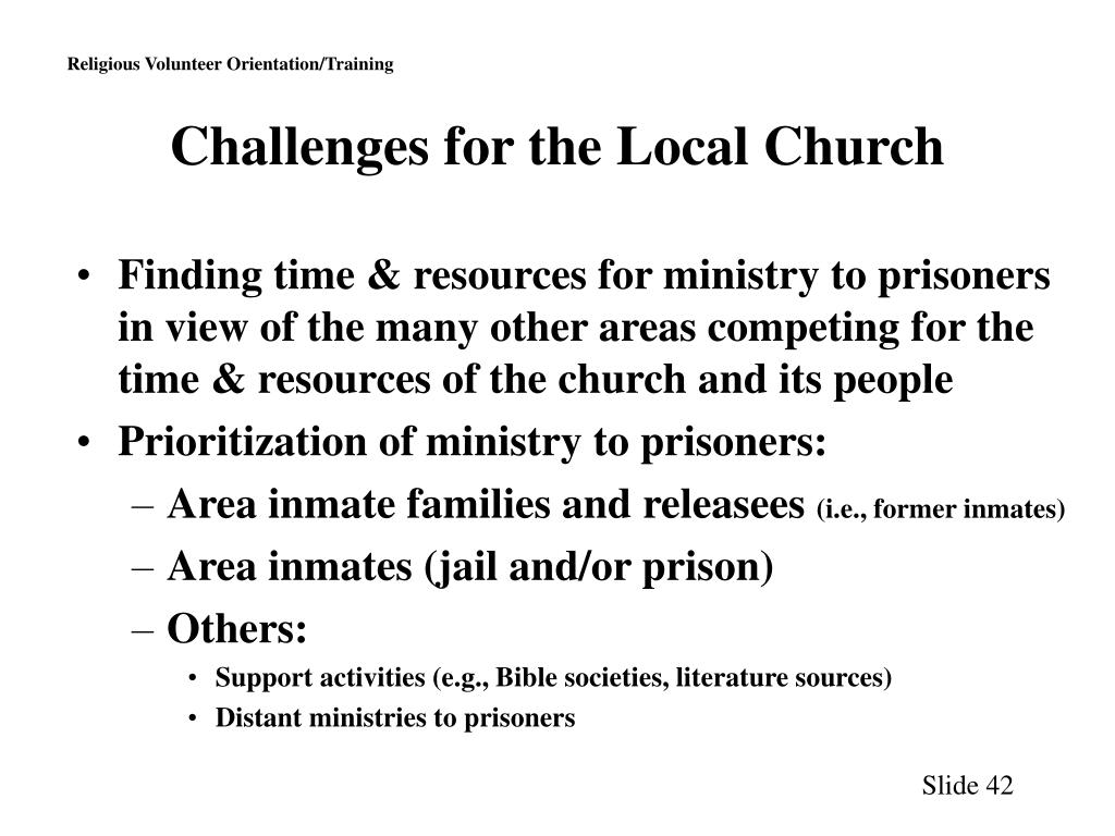 Challenges for the Local Church