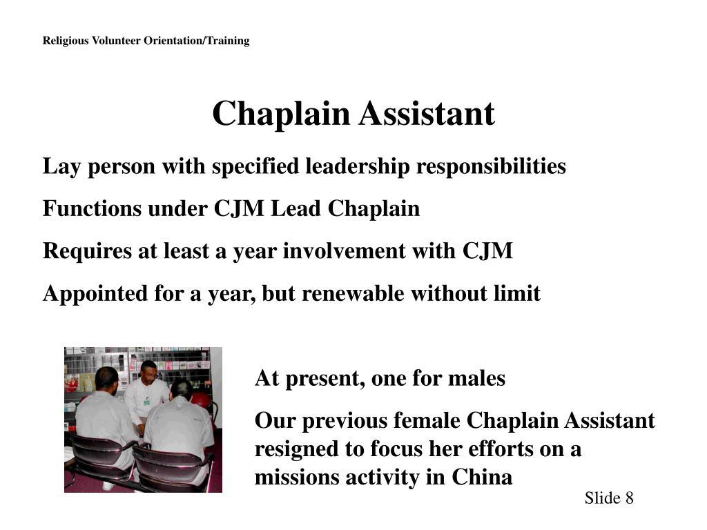 Chaplain Assistant