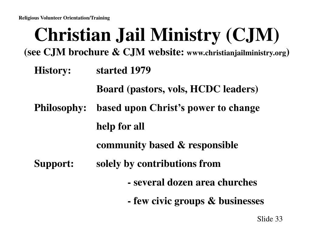 Christian Jail Ministry (CJM)
