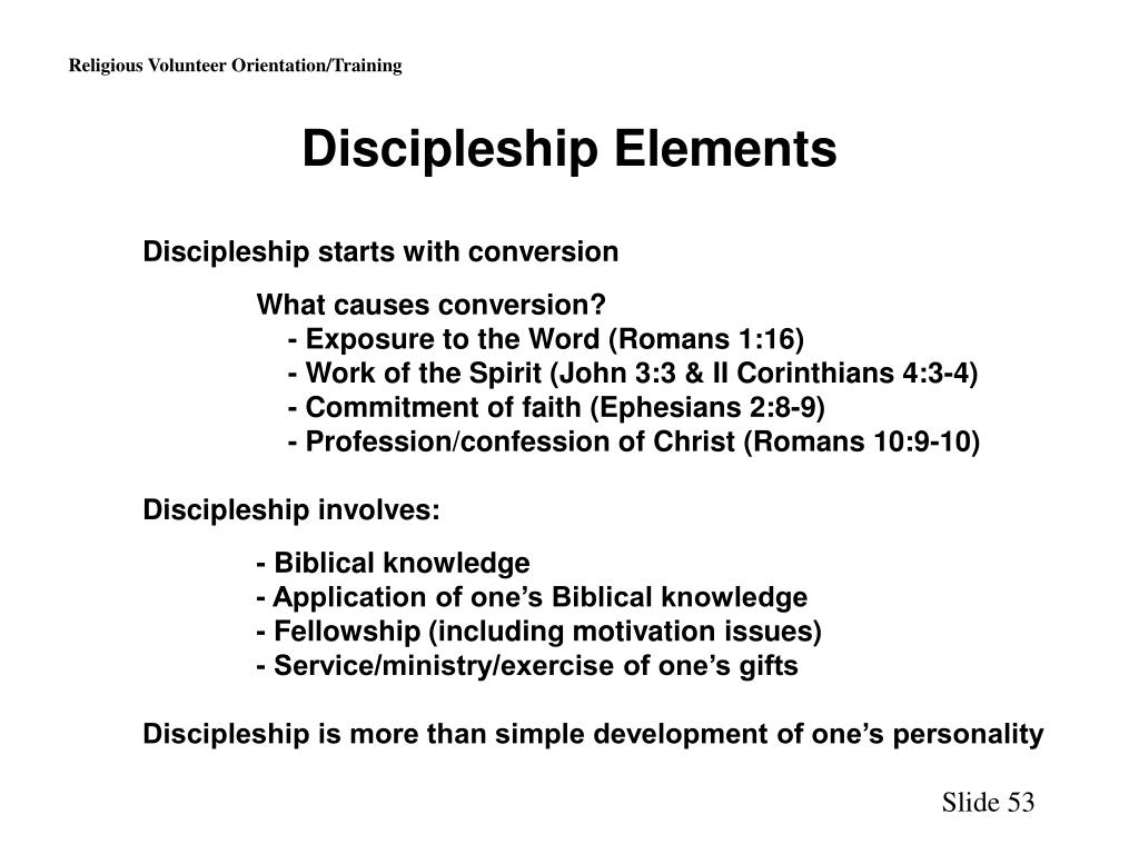 Discipleship Elements