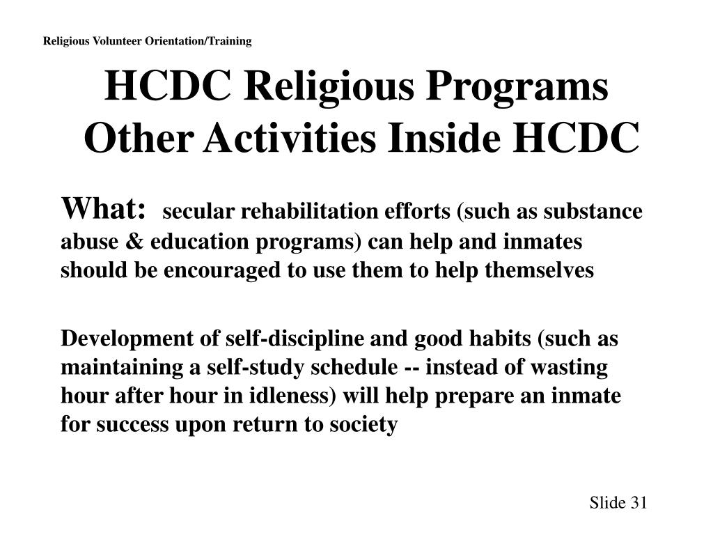 HCDC Religious Programs