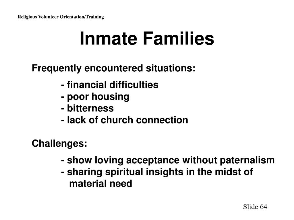 Inmate Families