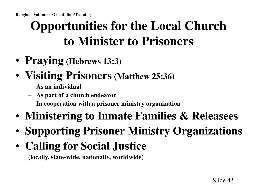 Opportunities for the Local Church