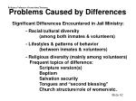 problems caused by differences