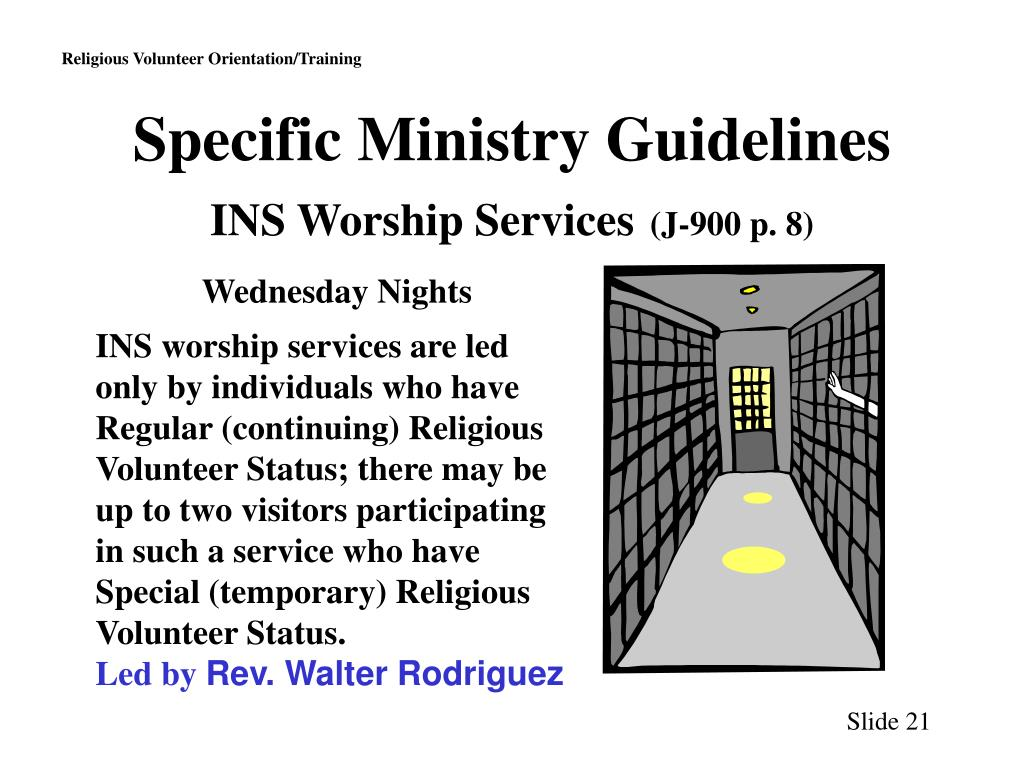 Specific Ministry Guidelines