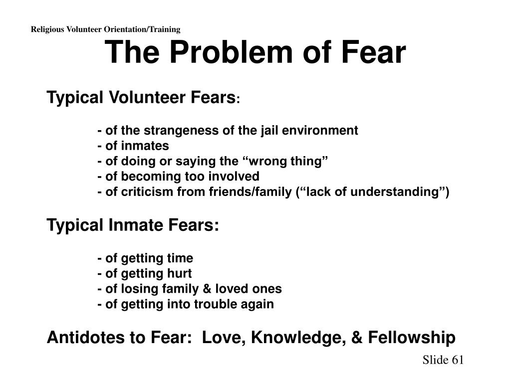 The Problem of Fear