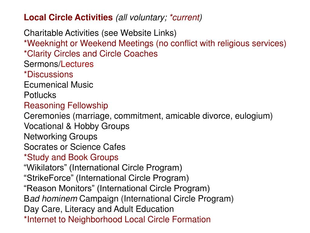 Local Circle Activities