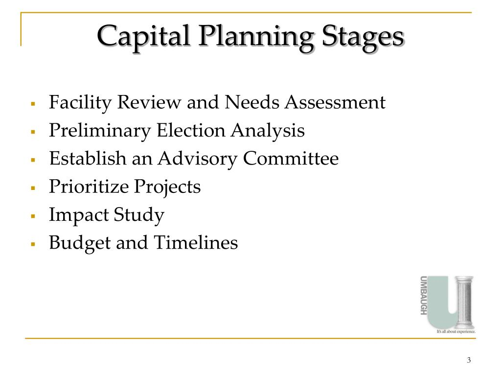 Capital Planning Stages