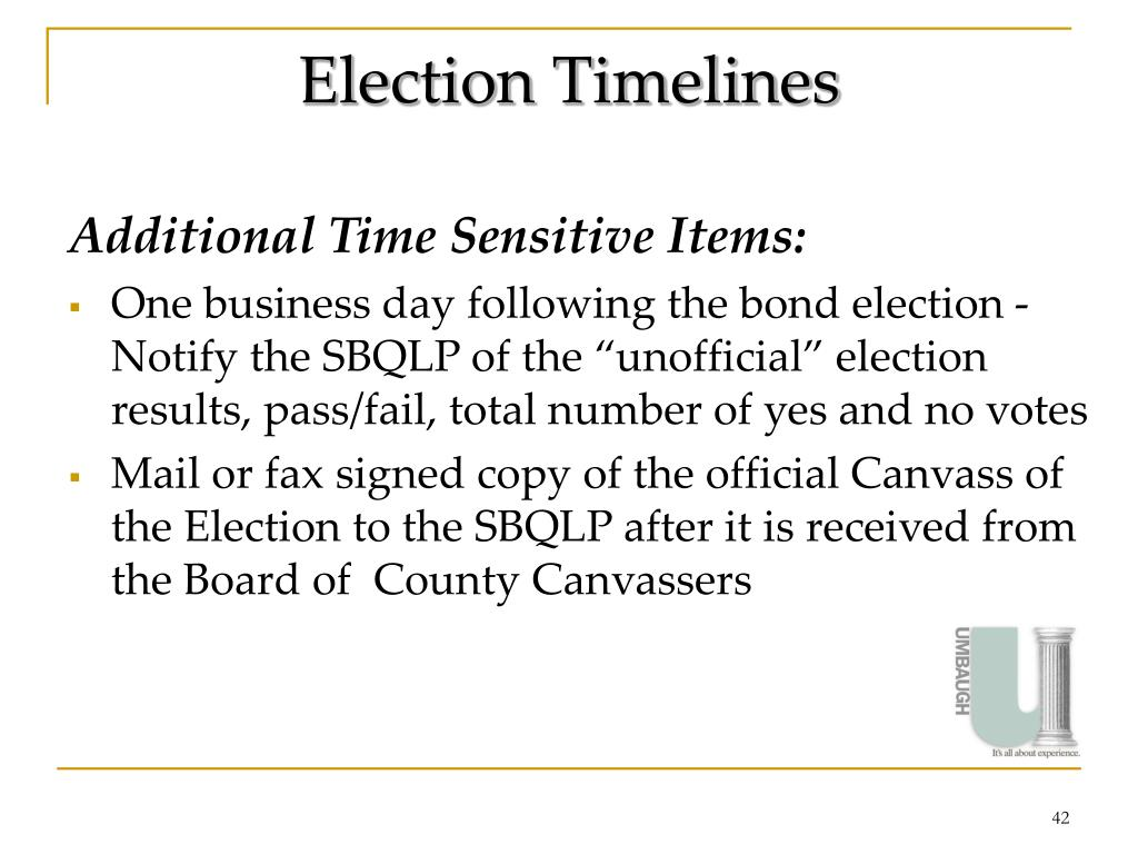 Election Timelines