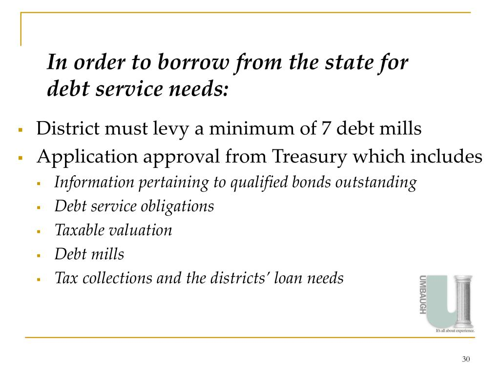 In order to borrow from the state for