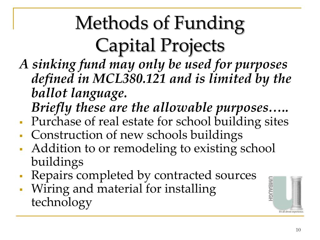 Methods of Funding