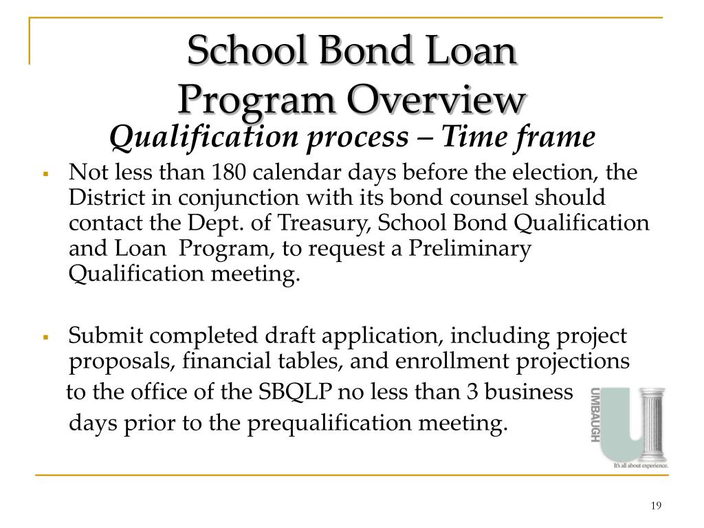 School Bond Loan