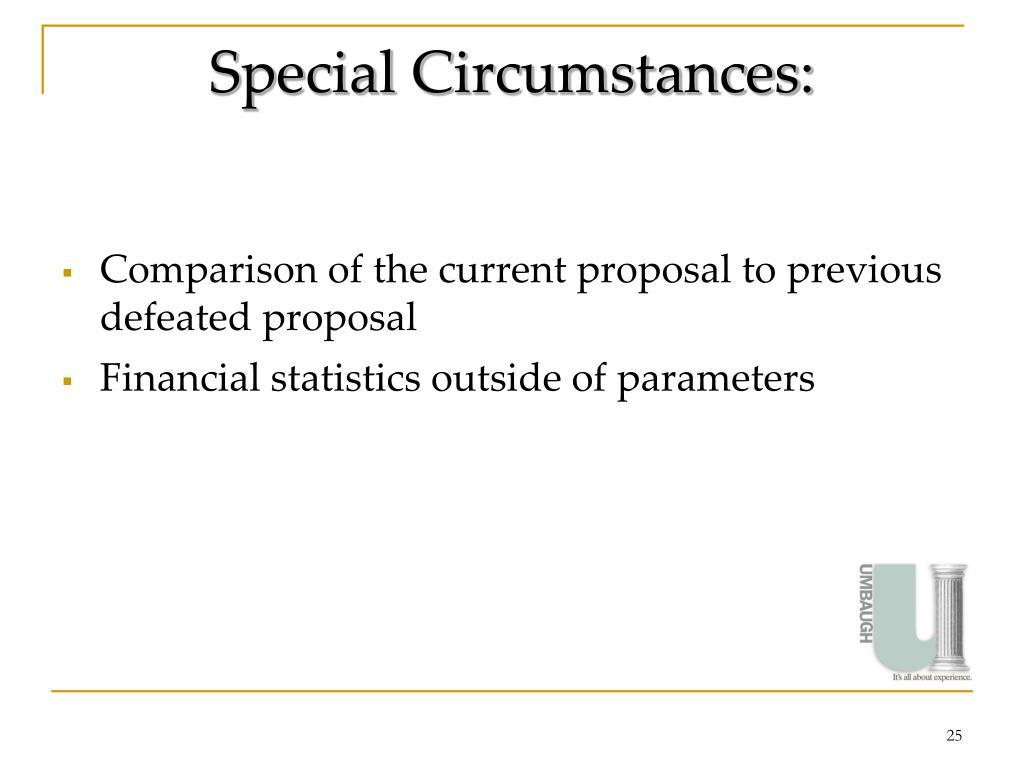 Special Circumstances: