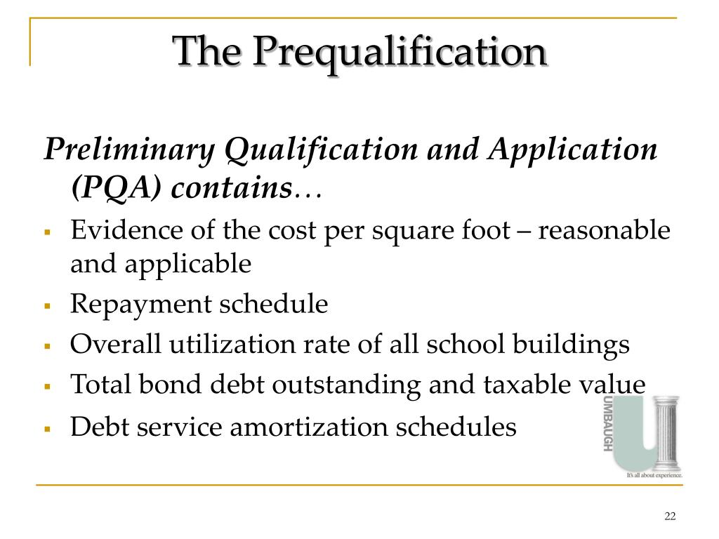 The Prequalification