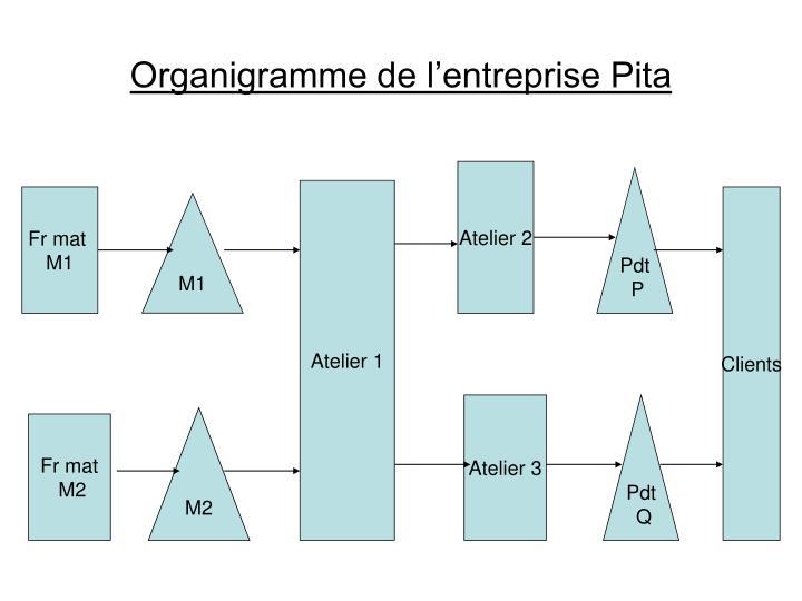 Organigramme de l'entreprise Pita