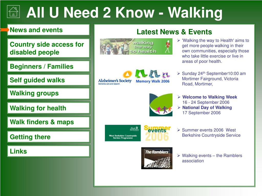 'Walking the way to Health'aims to get more people walking in their own communities, especially those who take little exercise or live in areas of poor health.