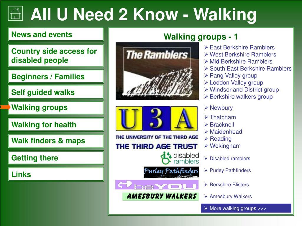 Walking groups - 1