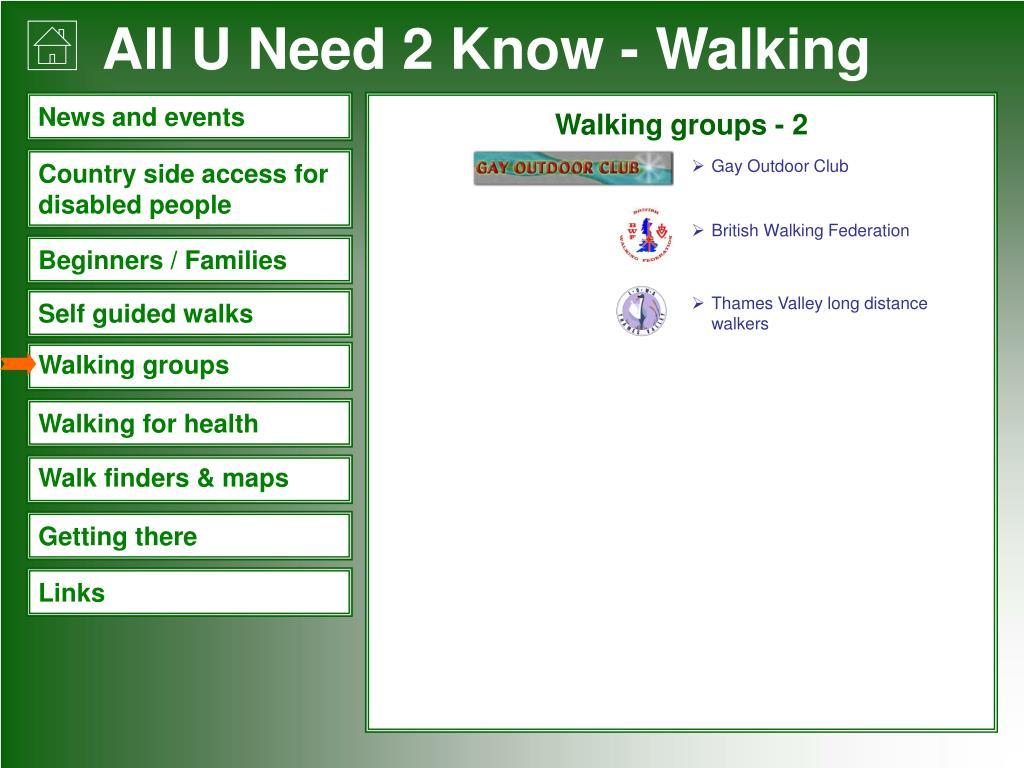 Walking groups - 2