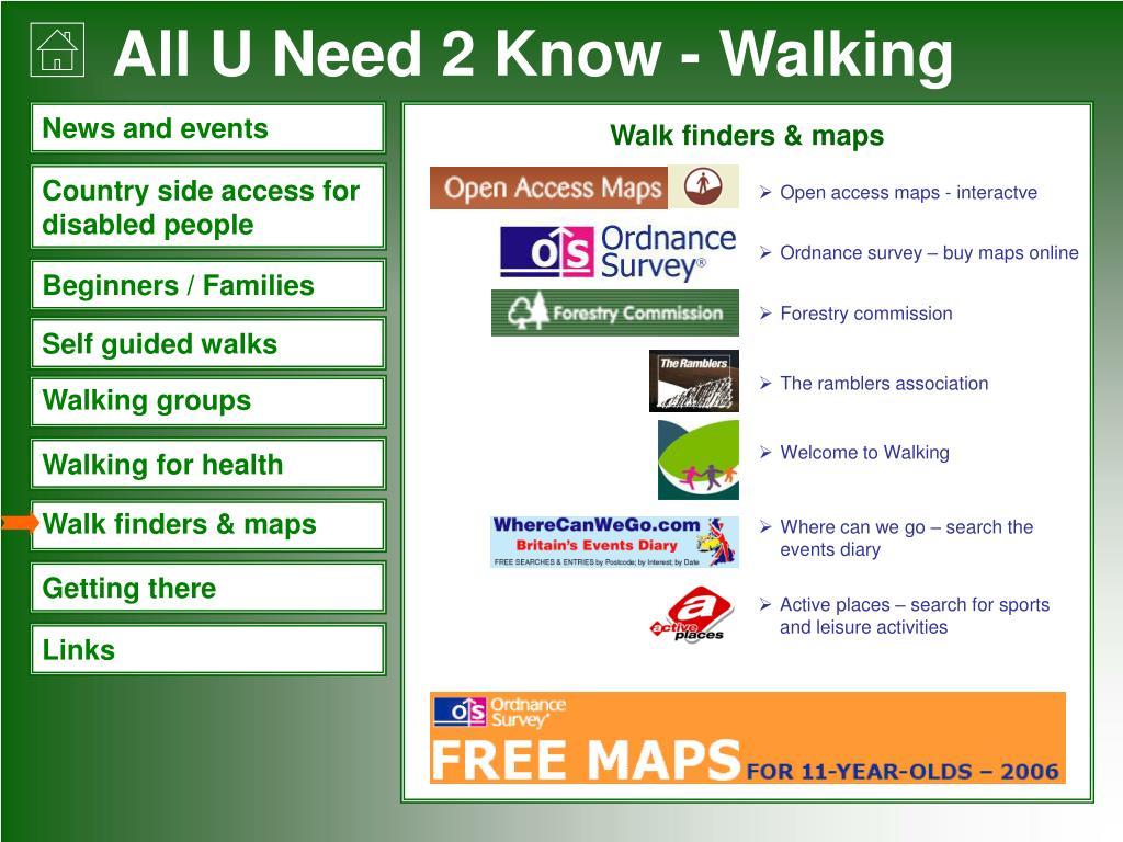 Walk finders & maps