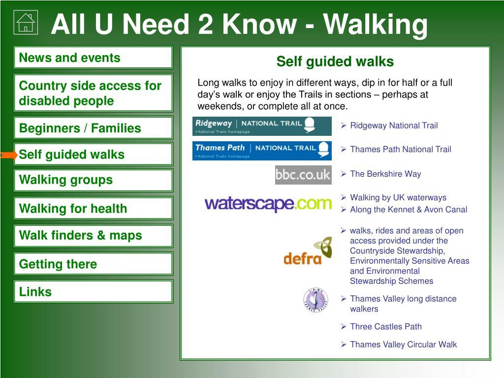 Self guided walks