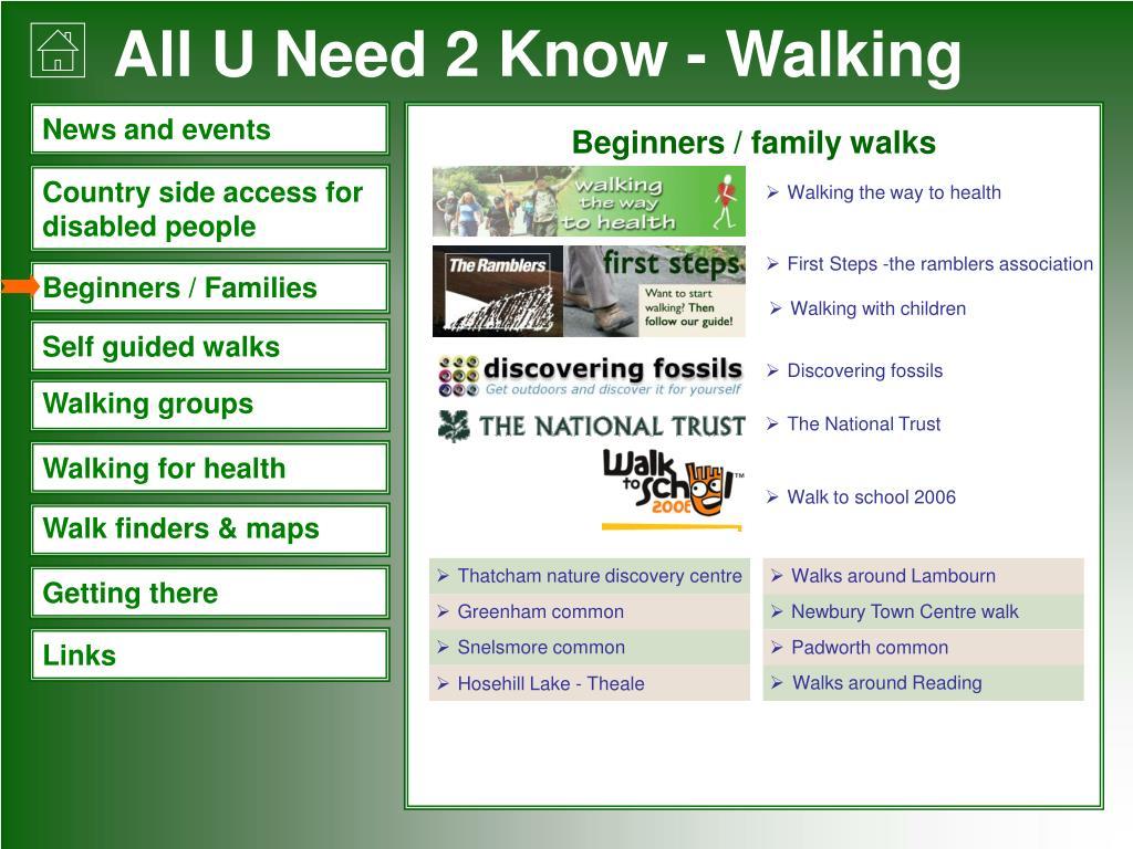 Beginners / family walks
