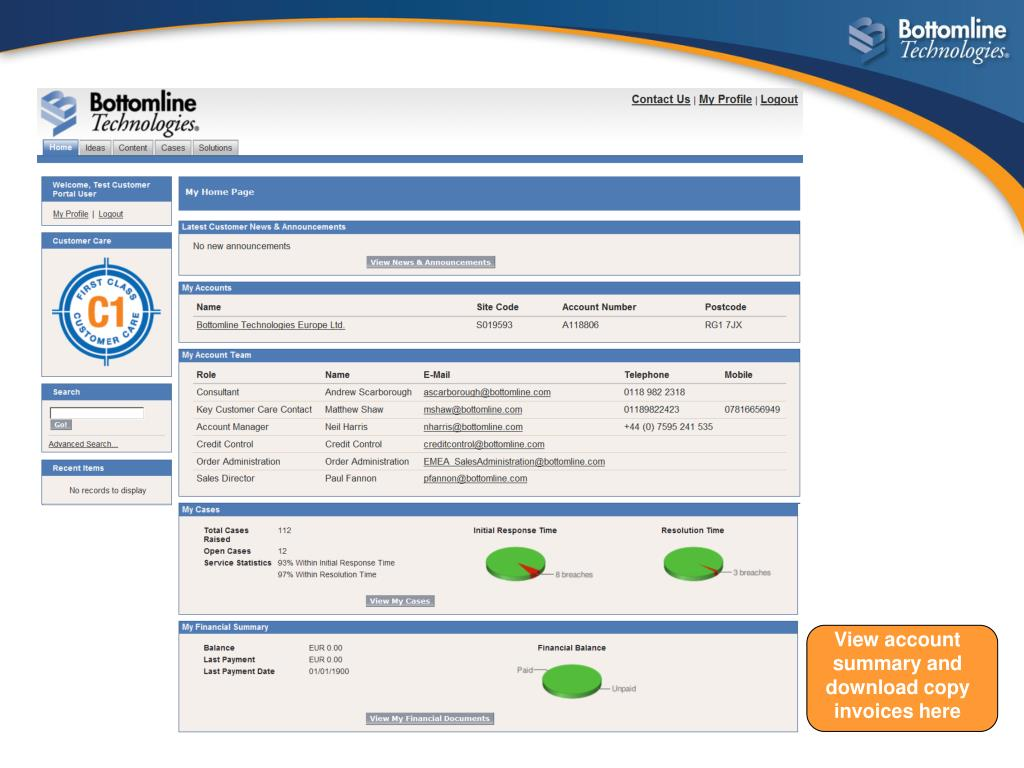 View account summary and download copy invoices here
