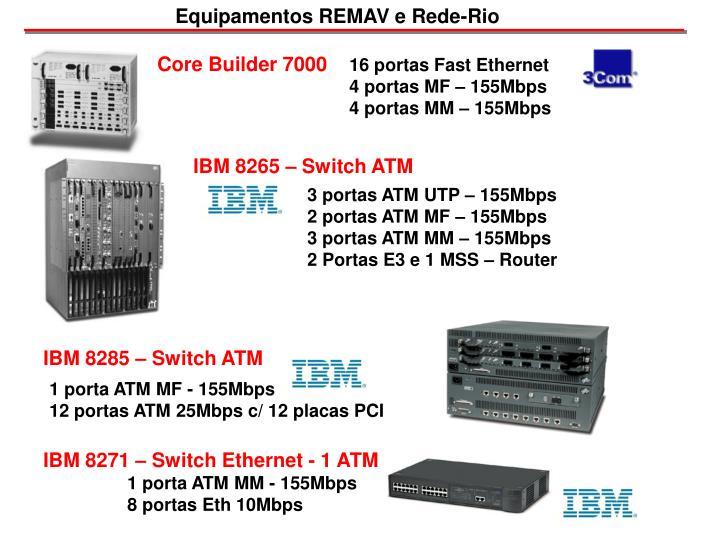 Equipamentos REMAV e Rede-Rio