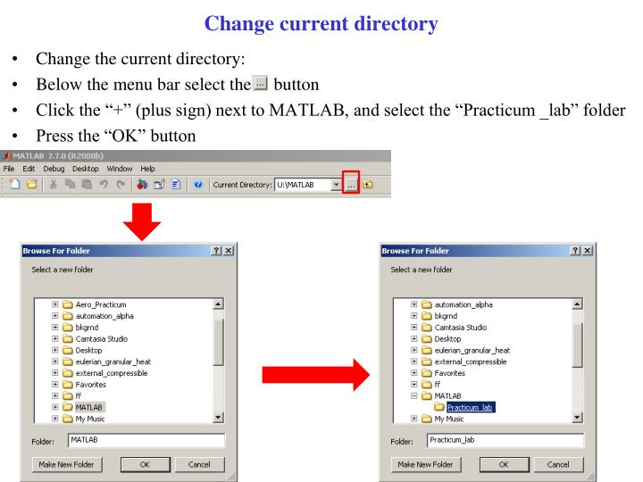 Change current directory