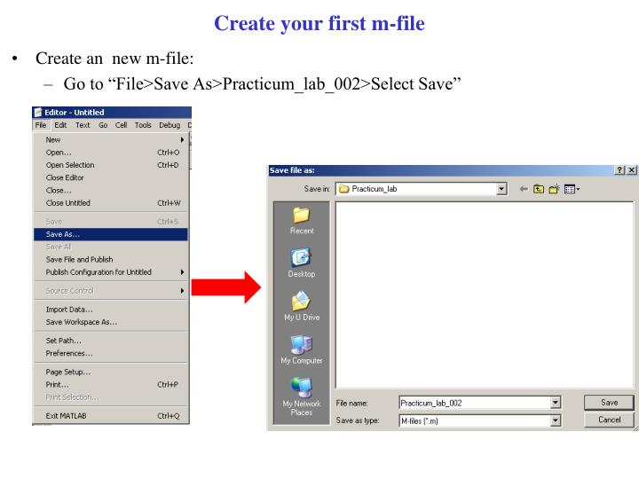 Create your first m file