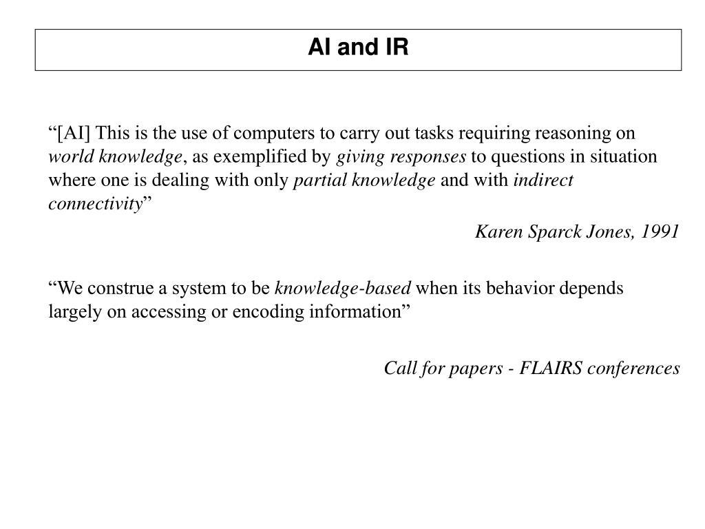 AI and IR