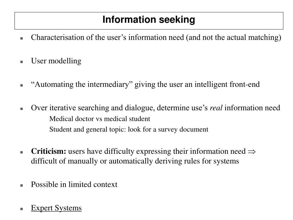 Information seeking