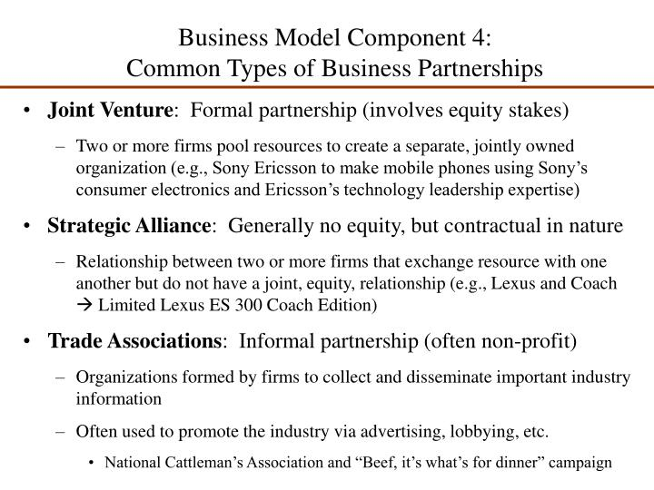 Business Model Component 4: