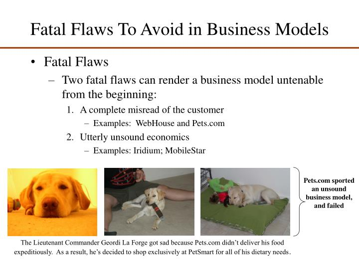 Fatal flaws to avoid in business models