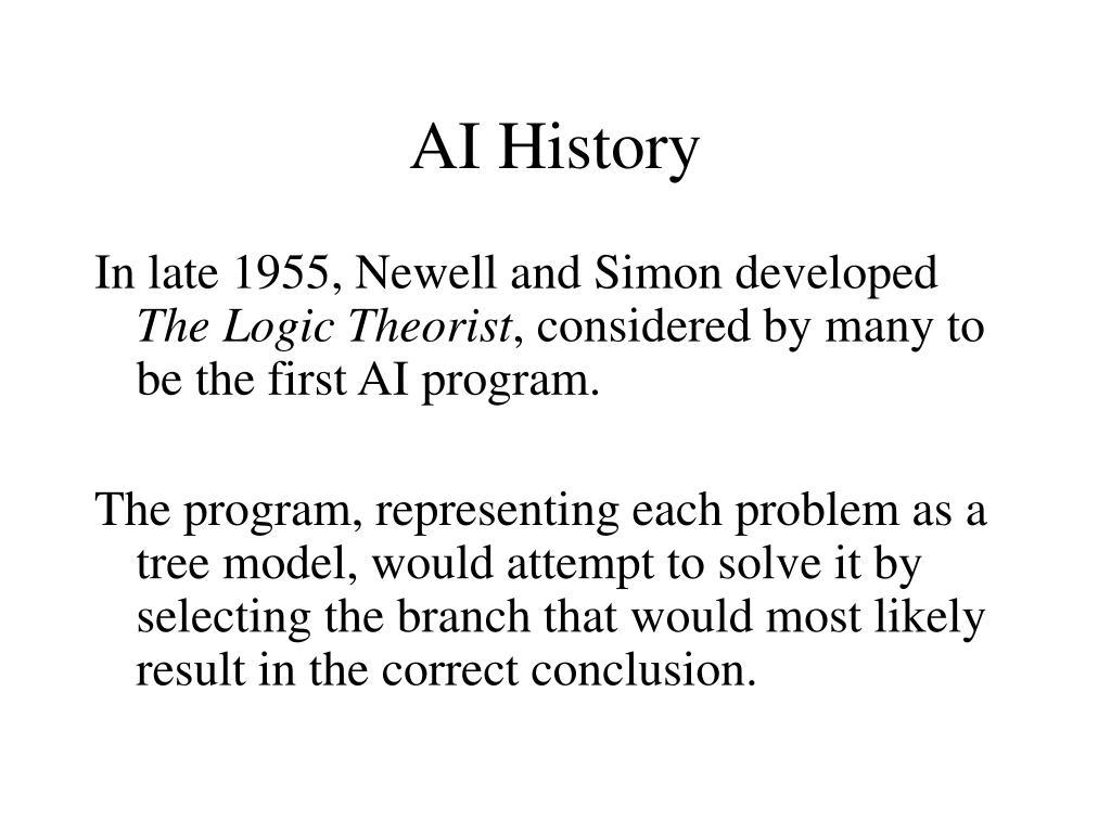 AI History