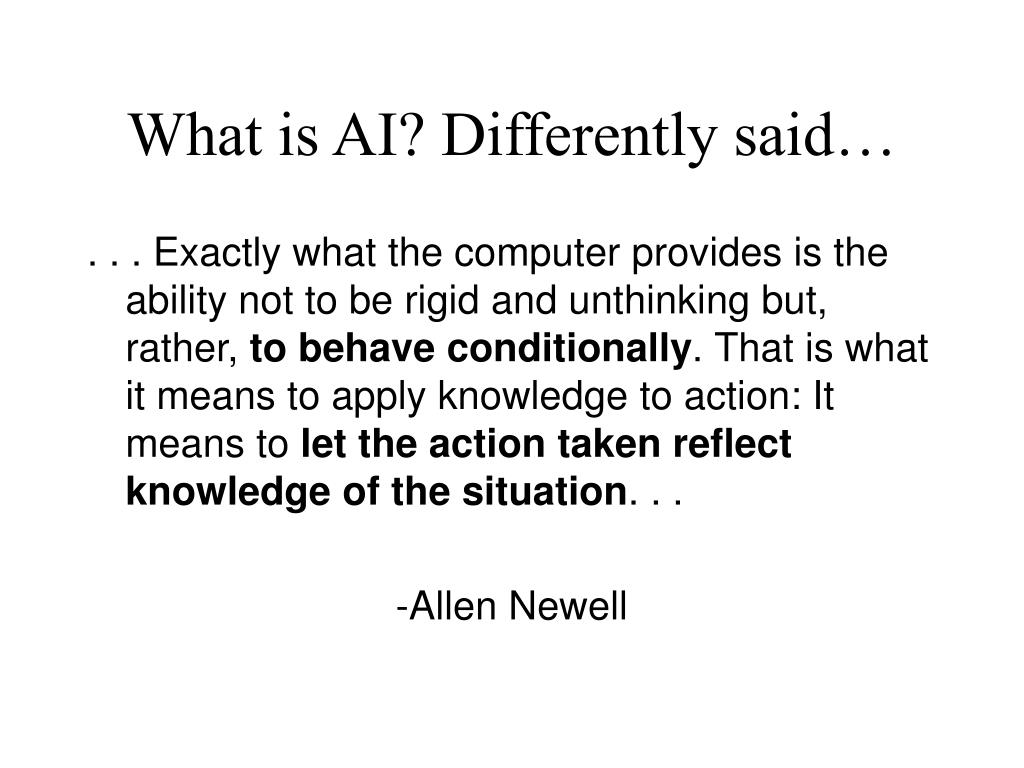 What is AI? Differently said…